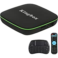 Kingbox Android TV Box, K1 Android 7.1 Box Compatible con 4K (60Hz) Full HDMI / H.265 / Bluetooth 4.0 / WiFi 2.4GHz Android Smart TV Box [2018 Última Edición]