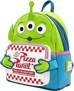 Loungefly Disney Toy Story Alien Pizza Planet Box Faux Leather Mini Backpack