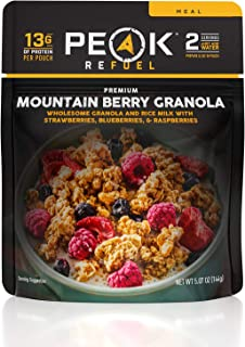 product image for Peak Refuel Mountain Berry Granola with Rice Milk | Dairy Free | Vegan | Freeze Dried Backpacking and Camping Food | Amazing Taste | Quick Prep | Lightweight