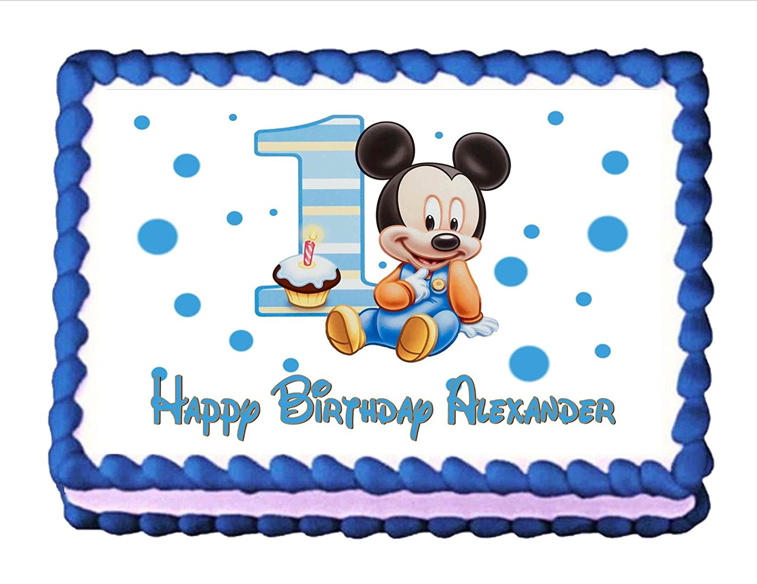 Amazon Edible Cake Topper Baby Mickey Mouse Babys 1st Birthday