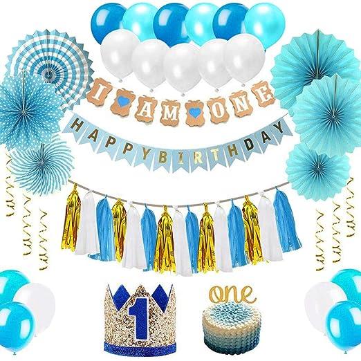 Wuudi - Set de decoración para cumpleaños Infantil, 1 Globo ...
