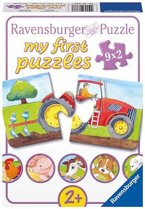 Puzzles & Geduldspiele Puzzle Bauernhof 6 Puzzles à 2 Teile aus stabiler Pappe Puzzle Deutsch 2018 Geduldspiel