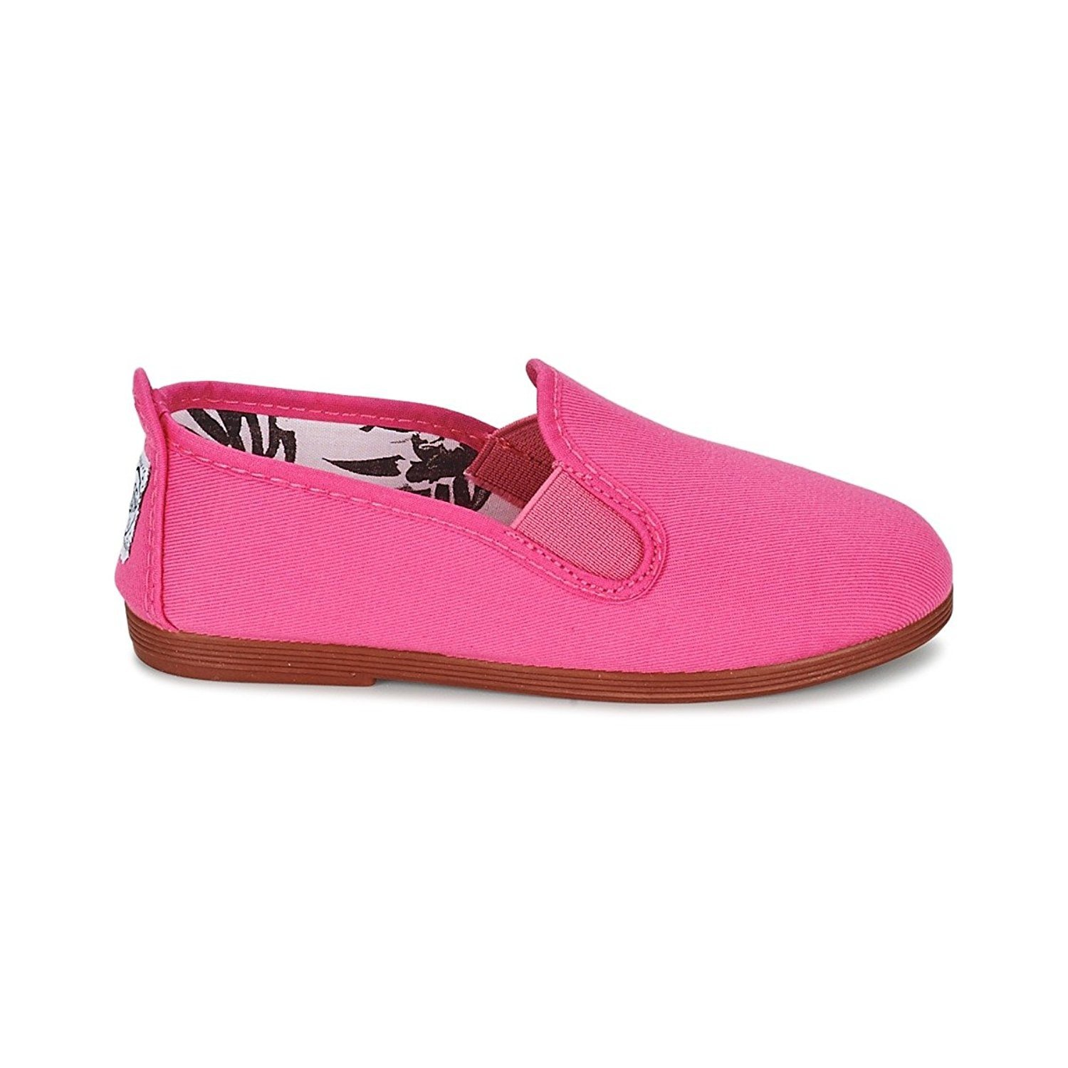 Flossy Kid de Navarre à enfiler Toile Chaussures, Rose Fuchsia