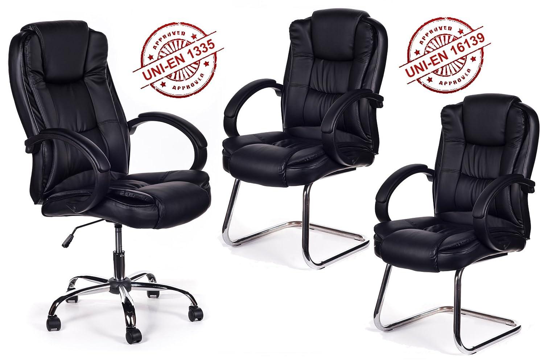 San Marco Tris Sillón Oficina direccional + 2 sillas Sala ...