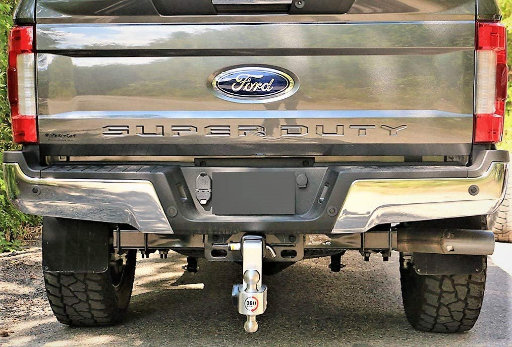 Dual Pin Keyed Lock 2.5 Receiver 18,500 LBS GTW Adjustable Aluminum Trailer Hitch Ball Mount /& Chrome Plated Combo Ball Weigh Safe 180 HITCH CTB8-2.5 8 Drop Hitch