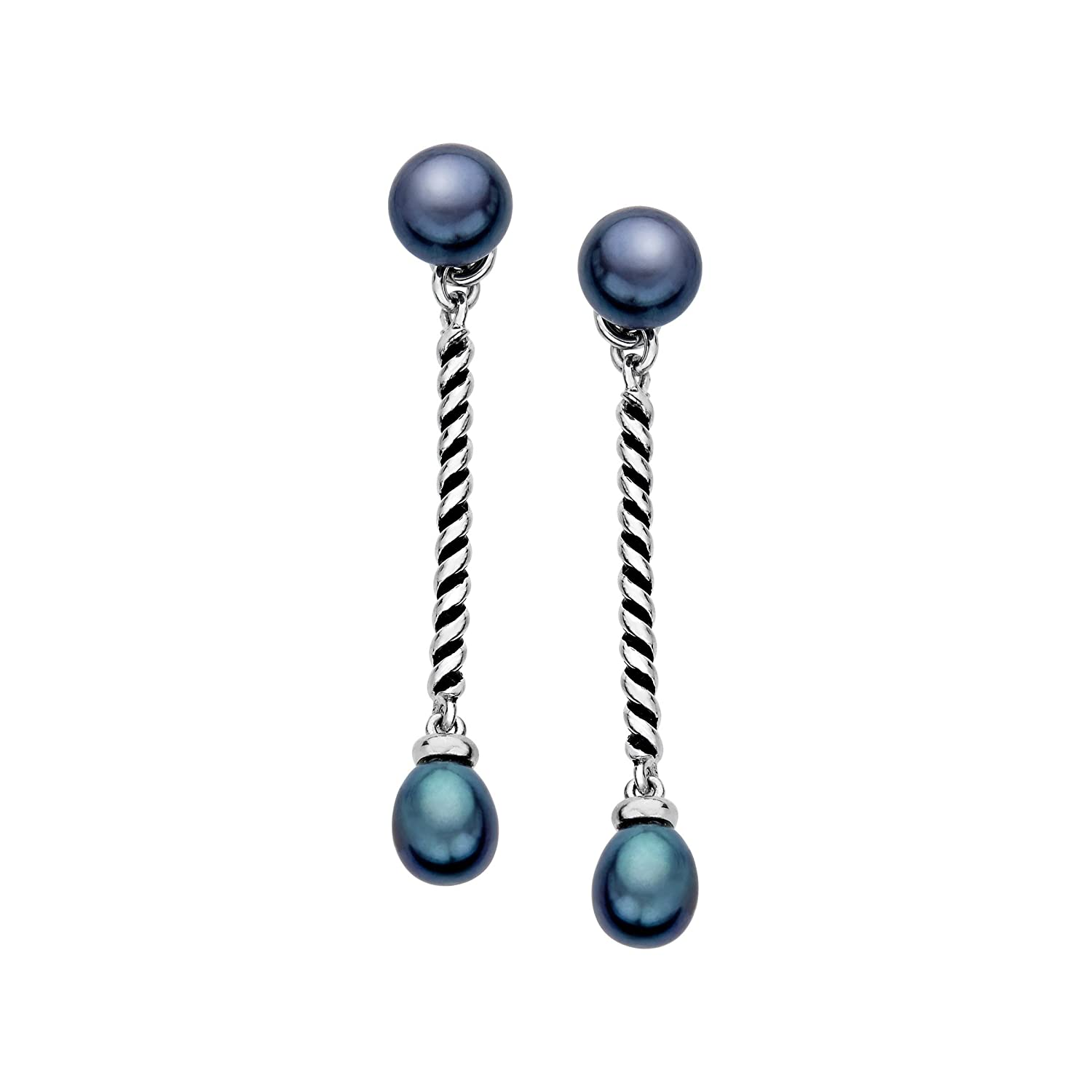 qvc topaz bixby barbara earrings product com sterling interchangeable blue