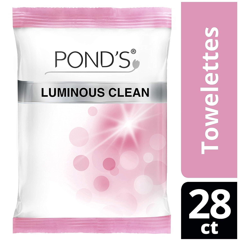 Pond's Moisture Clean Towelettes, Luminous Clean, 28 Count