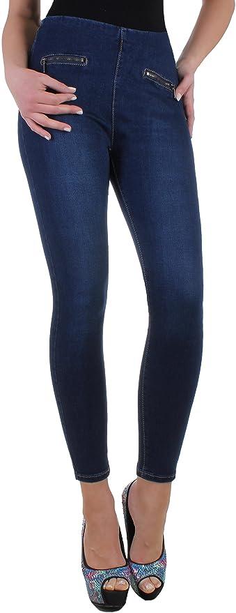 7494d0868ea91b Black Denim BD Stretch Jeans Damen High Waist Hochschnitt Röhrenjeans blau  mit Zierzippern vorne 34XS: Amazon.de: Bekleidung