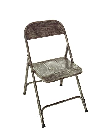 Vintage silla plegable de hierro 76 x 44 x 55 cm (H/B/T ...