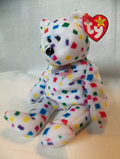 Image Unavailable. Image not available for. Color  TY Beanie Babies  Confetti Bear TY 2K ... 9800813e1372