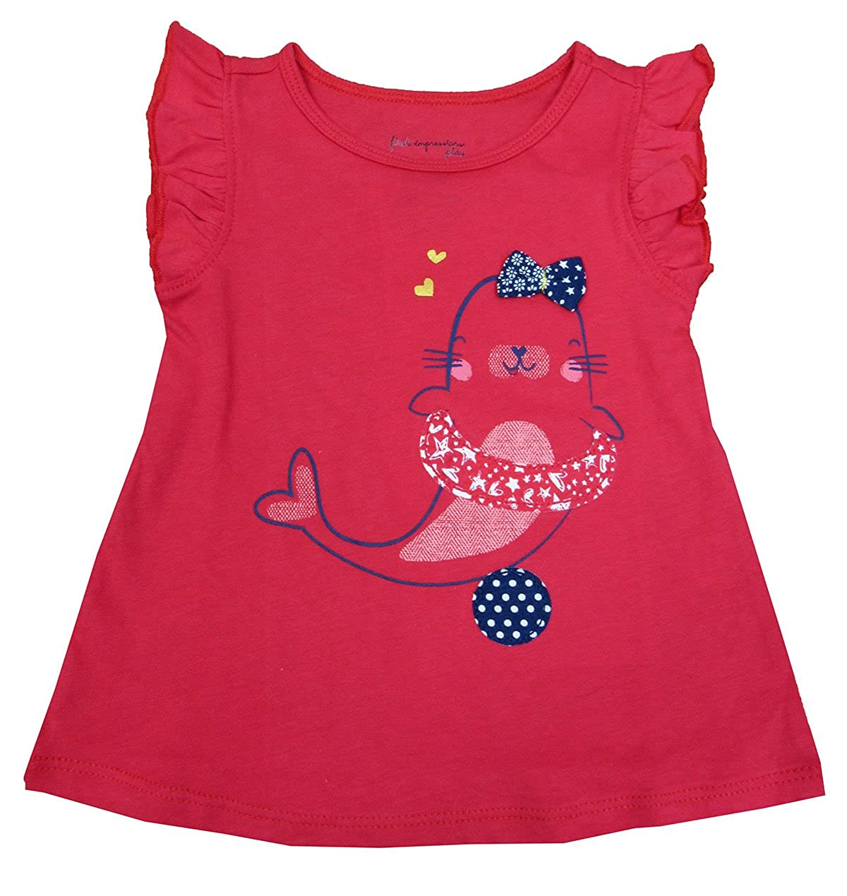 First Impressions Baby Girls Graphic-Print T-Shirt Poppy Field 18 Months