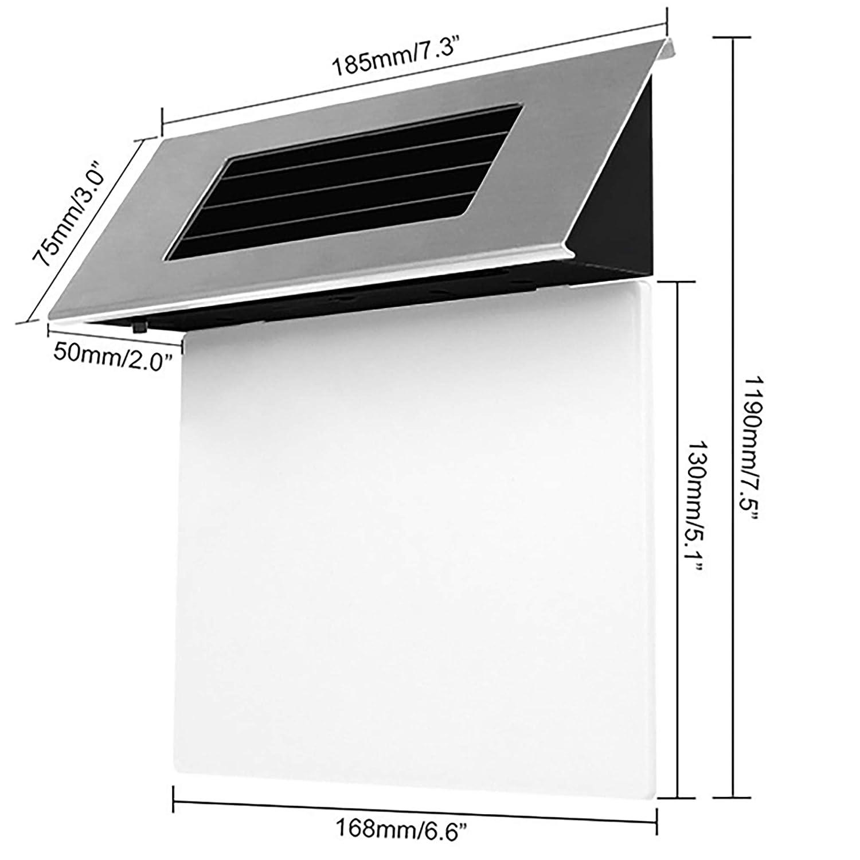Detector de Movimiento de Acero Inoxidable N/úmero de casa con iluminaci/ón Solar y 4 Luces LED Alaskaprint