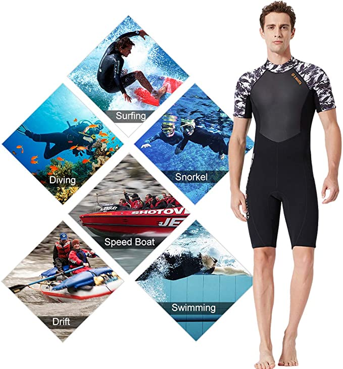 Wassersport SM SunniMix M/änner Tauchen Neoprenanzug Shorts Mit Tasche Zum Schnorcheln Outdoor Aktivit/äten