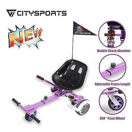 CITYSPORTS Hoverkart- Go Kart Kit de Conversión para Hoverboards - Más Seguro para los Niños - Todas Las Alturas - Todas Las Edades - con Asiento de ...