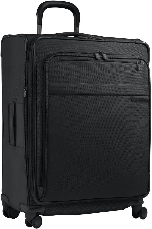 Briggs Riley Luggage Baseline Expandable Spinner, Black, Large