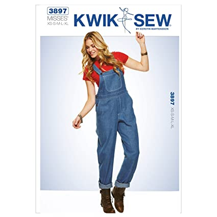 89e660f0577e1f Amazon.com  Kwik Sew K3897 Overalls Sewing Pattern