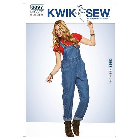 Kwic K3897 Sew Patterns - Cartamodello per salopette da donna ... 97dd91c6d4b5