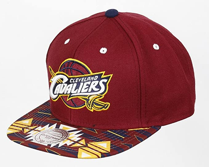 ccf858ff41d Image Unavailable. Image not available for. Colour  Mitchell   Ness Gtech  Cleveland Cavaliers Snapback Cap ...