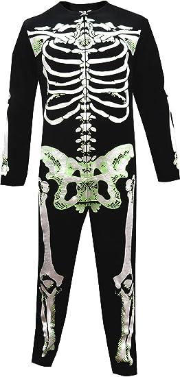 Unisex Glow In The Dark Skeleton Bones Onesie Pajama