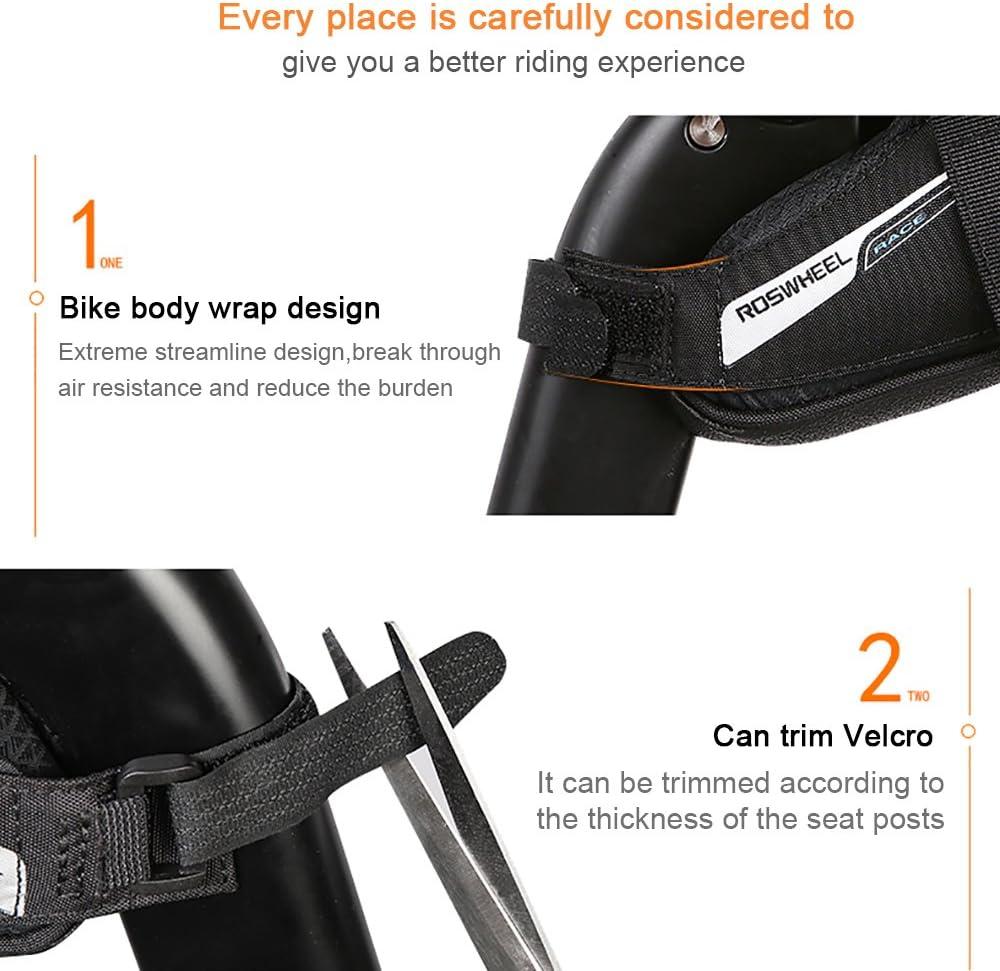 0,6L Roswheel Bicicleta Bolsas Bolsas para sillines//Bolsas para Bicicletas//Bolsas de Ciclismo//Paquete de Asiento de La Bicicleta para de la Bici del Camino