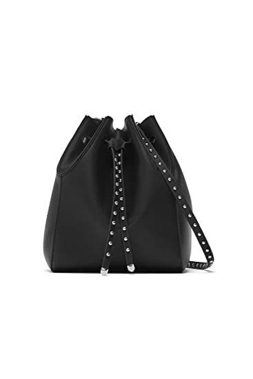 cdaba6ce Zara Women's Studded bucket bag 3200/004: Amazon.co.uk: Clothing