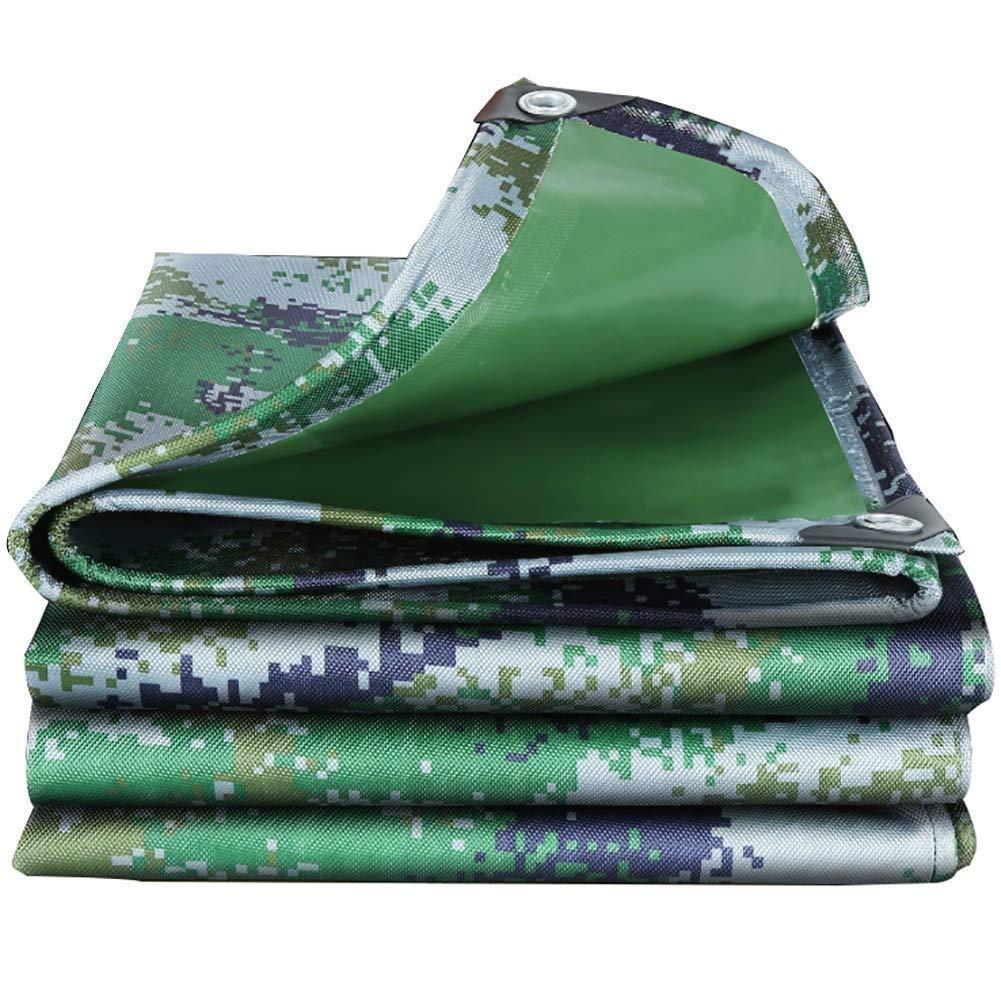 Unbekannt SCH Plane Camouflage Verdickte Edging Perforierte Wasserdichte Frostschutzmittel Sunscreen Staubdicht Anti-Aging Outdoor Plastic Tuchfilm (Größe   2.8X6.8m)