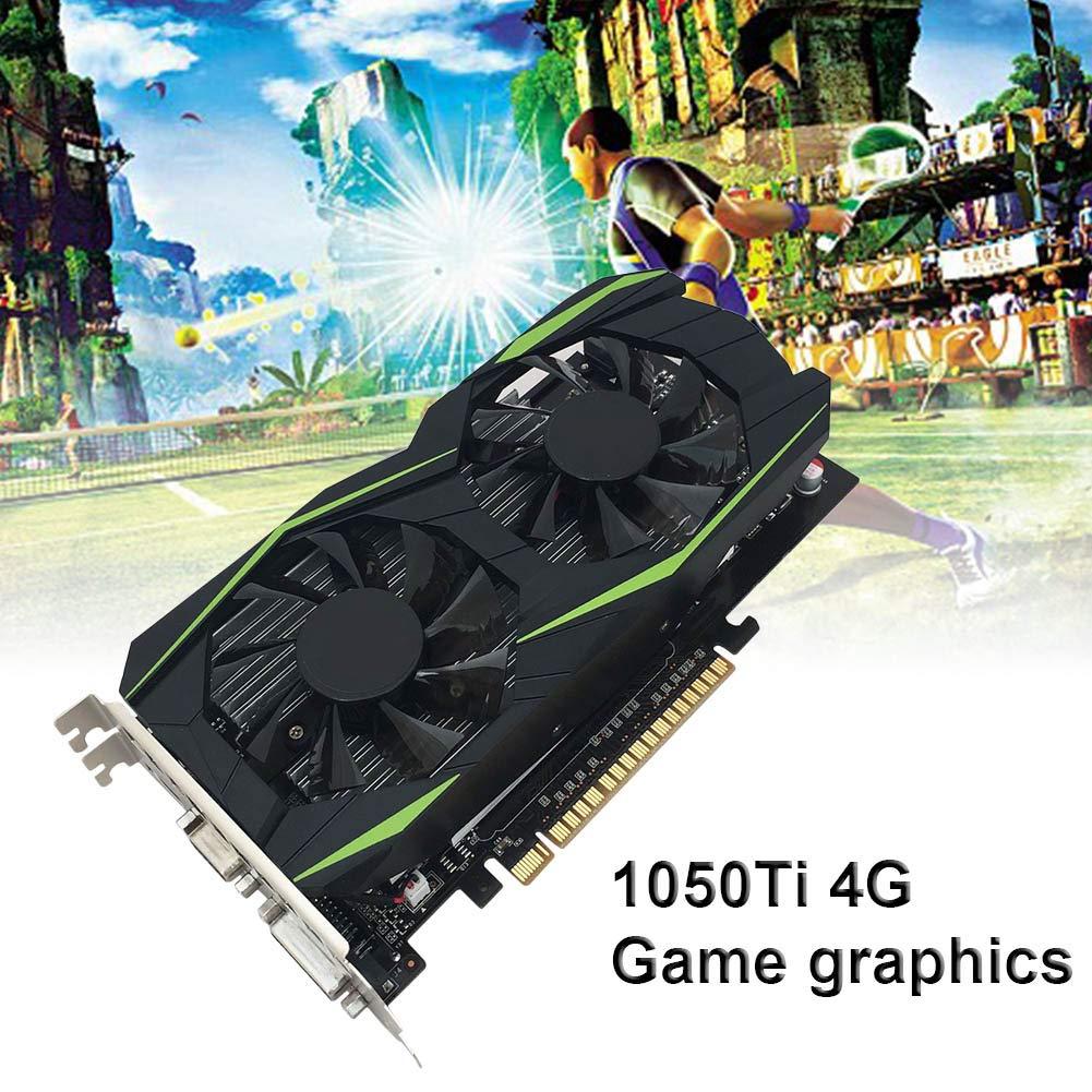 Wodeni 1050Ti 4GB Juego de Ordenador Tarjeta gráfica para Videojuegos Durable 128bit DDR5 HDMI