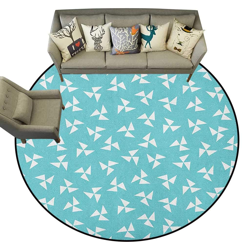 Style10 Diameter 54(inch& xFF09; Aqua,Personalized Floor mats Cartoon Style Marine Life Pattern with Cute Whales Seaweed and Little Fishes D54 Floor Mat Entrance Doormat