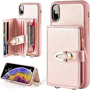 iPhone Xs Max Zipper Wallet Case for Women