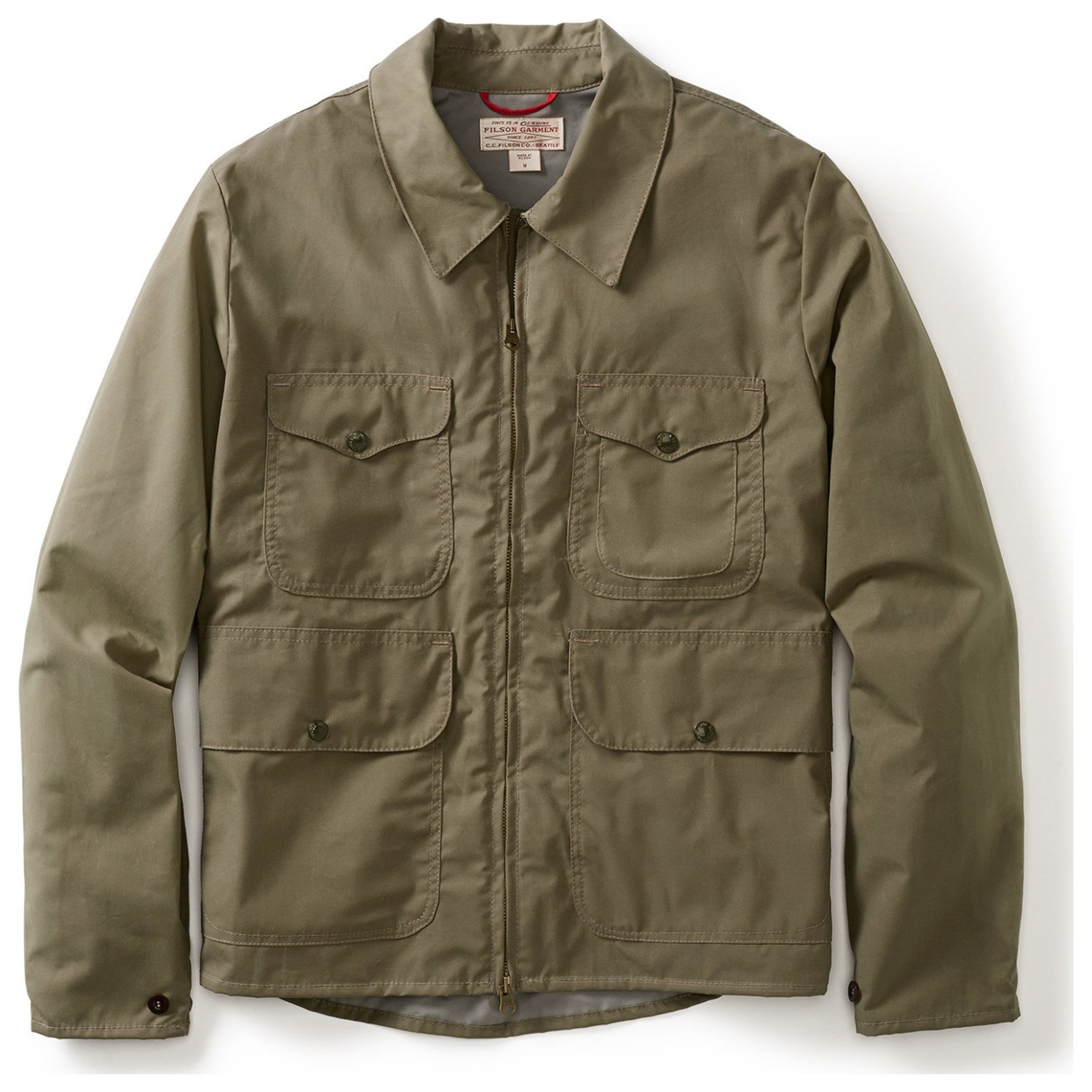 Filson Bell Bomber Jacket - Staywax Cover Cloth (X-Large, Tan)
