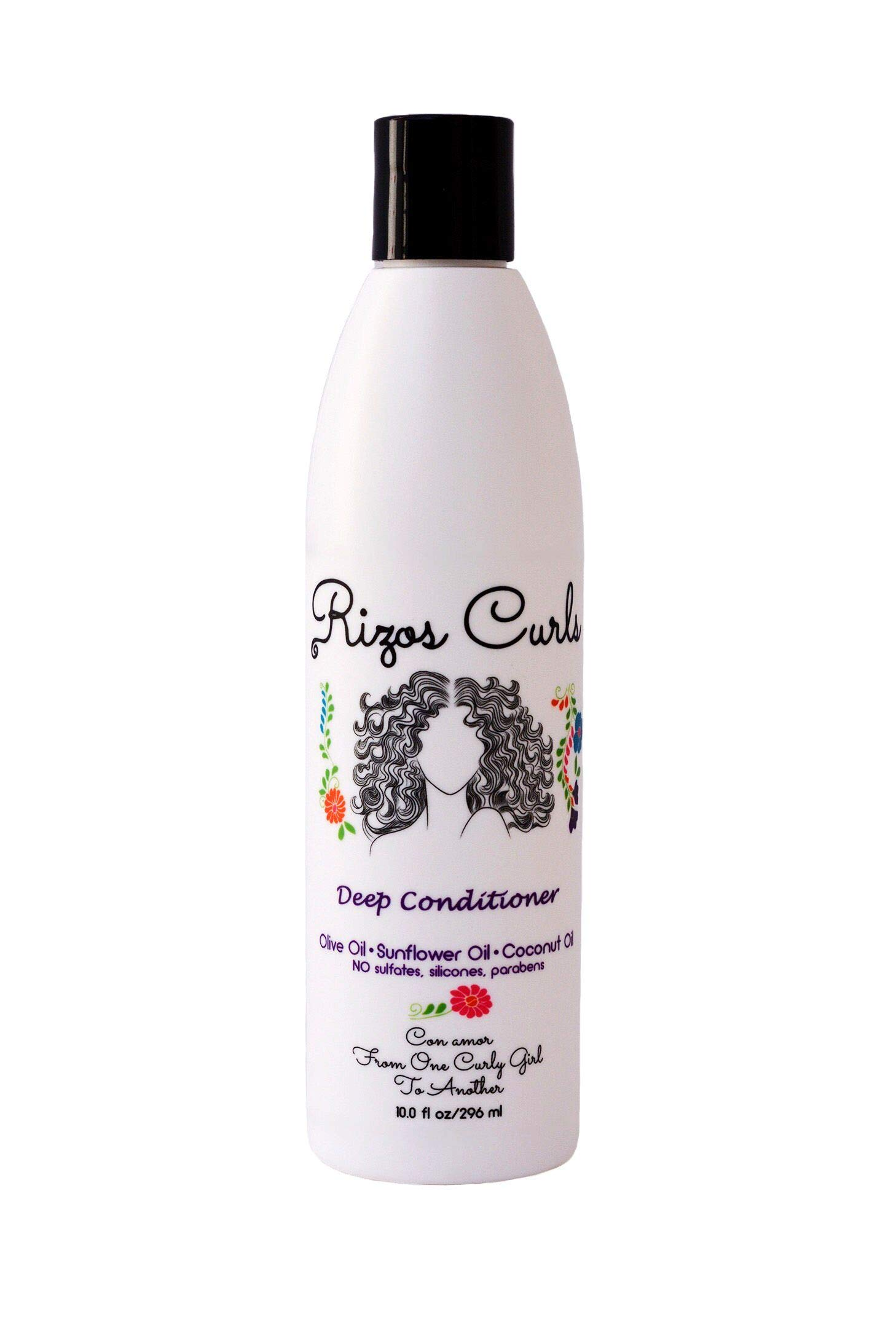 Rizos Curls Deep Conditioner. Deeply Nourishes & Strengthens Hair made with Natural ingredients Olive Oil, Sunflower Oil, Coconut Oil, Argan Oil & Shea Butter. For All Hair Types Curls, Coils & Waves.