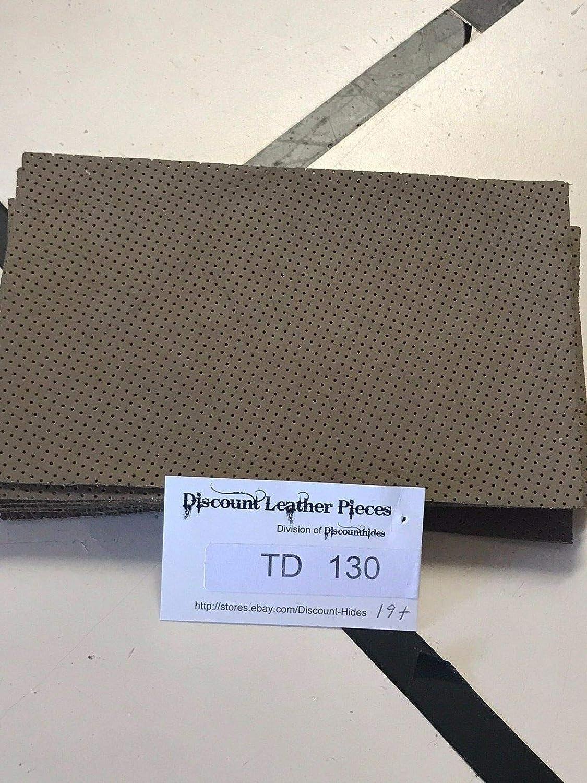タン穴あきレザークラフトピース 5 x 8インチ TD130 B07HZ22YMW