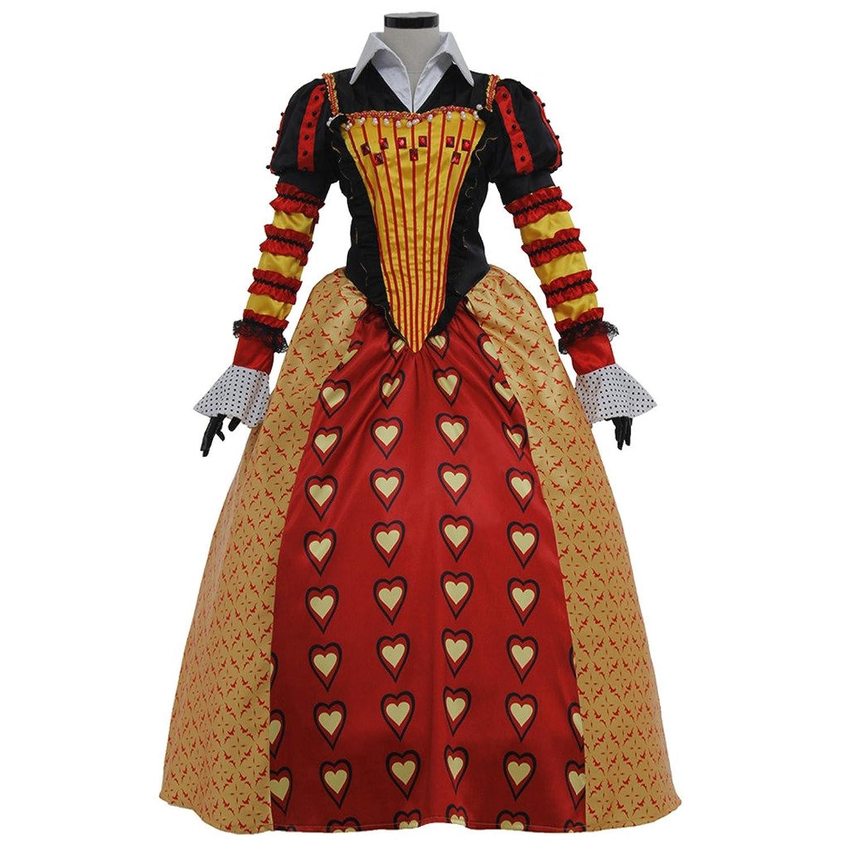 Women's Red Queen of Hearts Cosplay Dress Set - DeluxeAdultCostumes.com