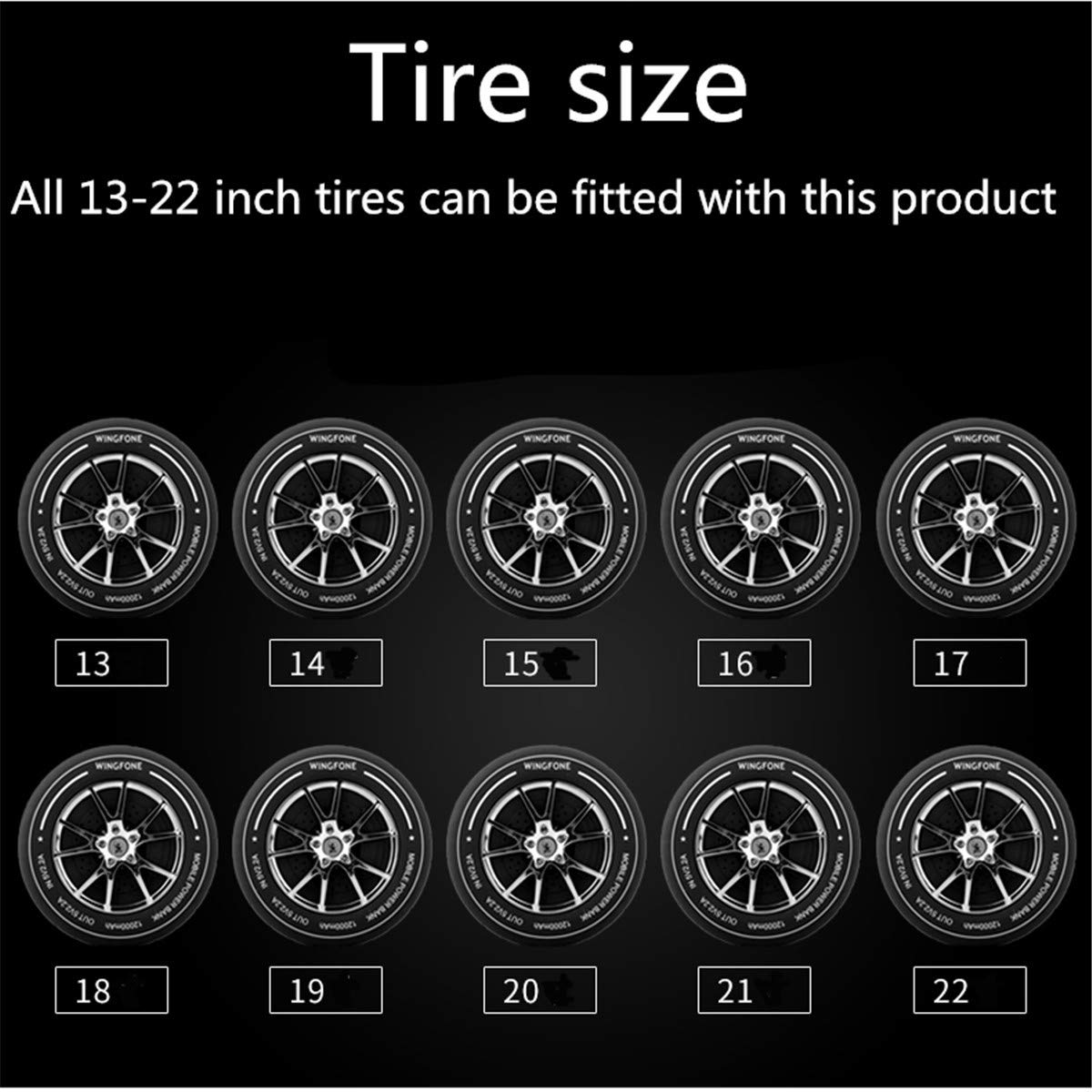 Car Wheel Universal for Most Car 26FT 13 to 22 inch 8M Gray YouVbeen Alloy Wheel Rim Protector Rings Strips