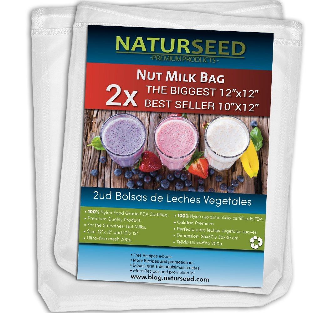 Premium 2 x Large Nut Milk Bag - Big 12