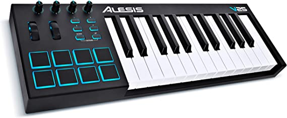 Alesis V25  25 Key USB MIDI Keyboard Controller with Backlit Pads 4 Assignable Knobs and Buttons Plus a Professional Software Suite with ProTools  Fir at Kapruka Online for specialGifts
