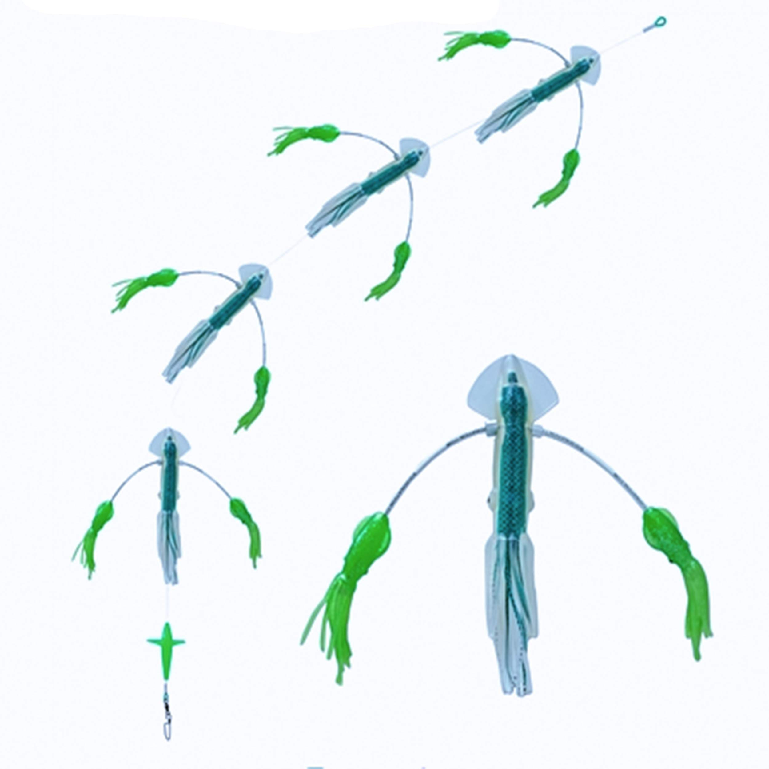 Squidnation Long Tail Flippy Floppy Thing Fishing Daisy Chain Tuna & Marlin Magnet (09)