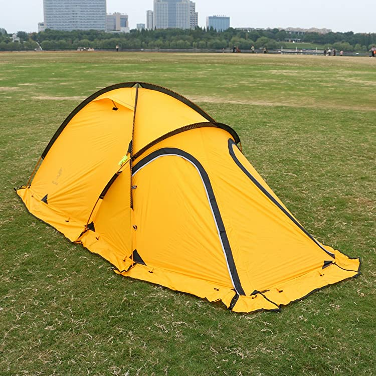 HILLMAN 2-Person 4-Season 20D Double Layer Silicone Ultralight High-altitude Outdoor Camping Tents