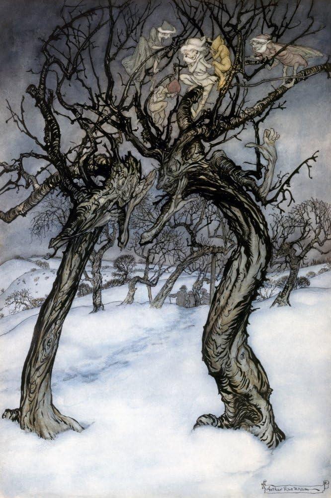 Rackham Whisper Trees Nillustration By Arthur Rackham For A Dish Of Apples By Eden Phillpotts 1921 Poster Print by (24 x 36)