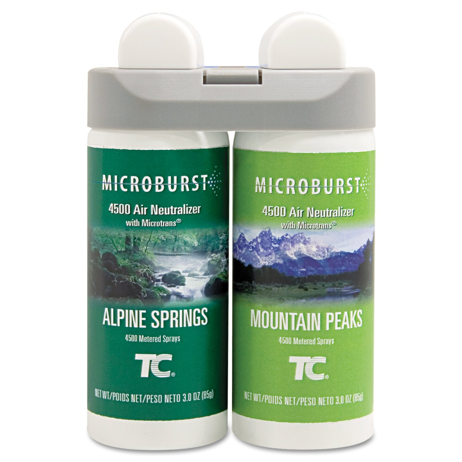 86357bfbd826 Rubbermaid Commercial 3485950 Microburst Duet 2-Fragrance Aerosol Odor  Control Air Care System, Fragrance Refill, Alpine Spring/ Mountain Peaks