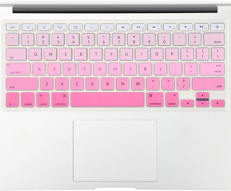 "Allinside Pink Ombre Keyboard Cover Skin for MacBook Pro 13"" 15"" 17"" (2015 or Older Version), MacBook Air 13"" A1369/A1466, Older iMac Wireless Keyboard MC184LL/B"