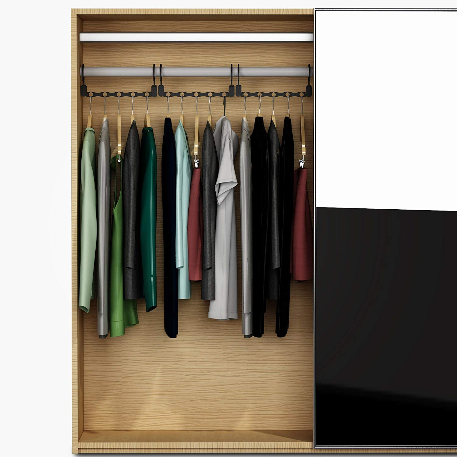 Armoire Multifunctional Cascading Clothing Organizers with Sturdy Plastic for Closet MoonFly Space Saving Magic Clothes Hangers 10 Pack Wardrobe Hanger Organizer Plastic, 10 Pack Cabinet