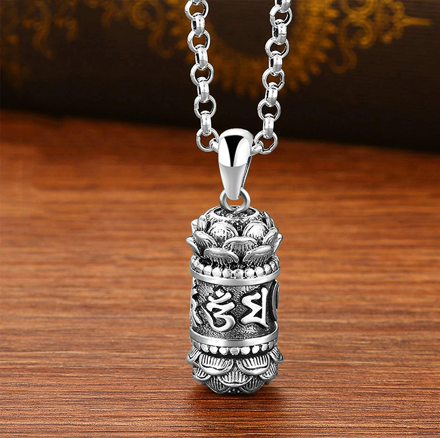 AMDXD Jewelry Sterling Silver Pendants Men Cable Necklace Chain 5mm Vintage Pendant Jewelry