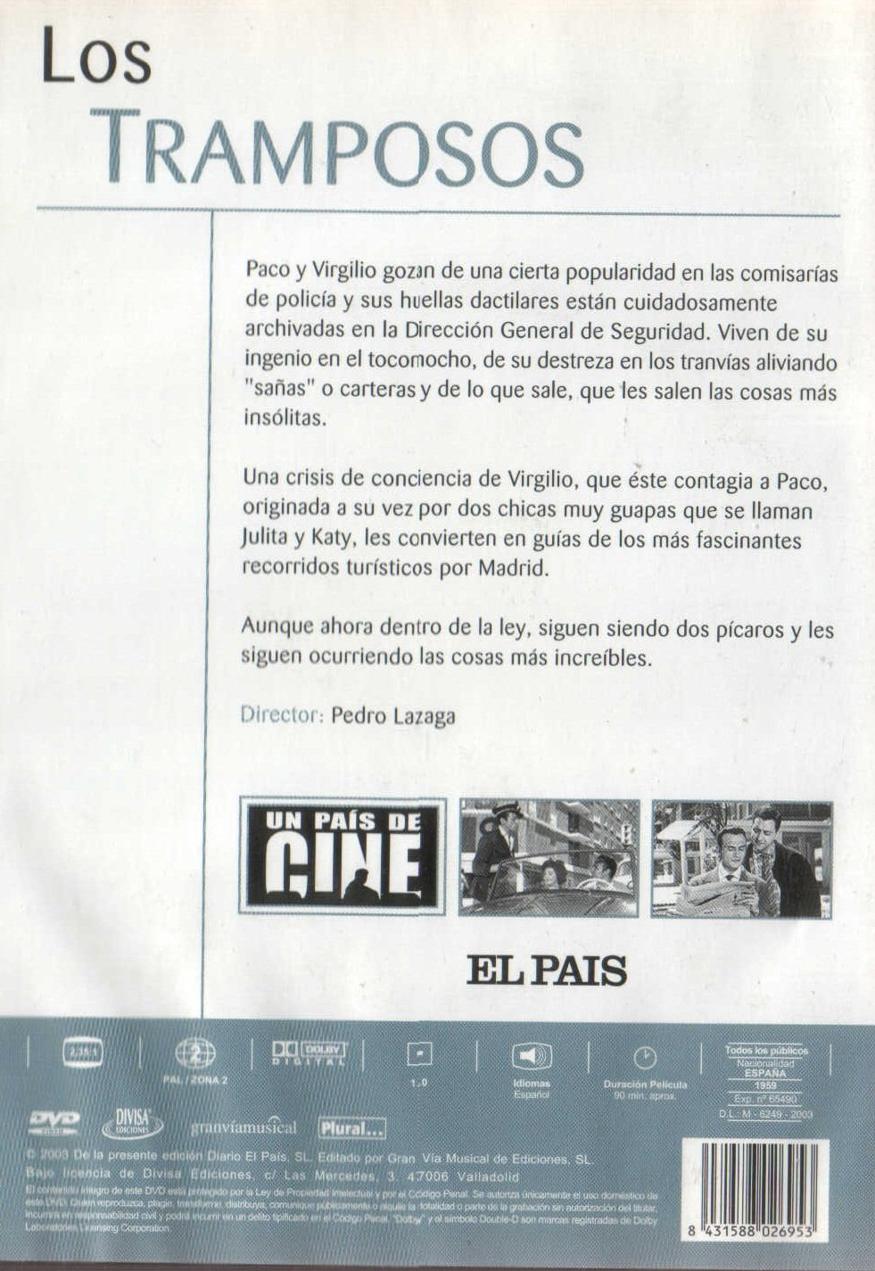 Amazon.com: Los Tramposos (Non Us Format) (Region 2) (Import): Pedro Lazaga: Movies & TV