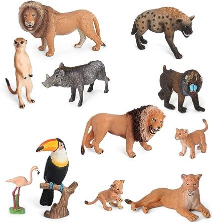 Amazon.com: Volnau Animal Toys Figurines Africa Animals ...