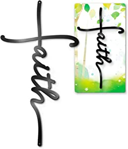 ViveGate Faith Sign Metal Cross Wall Decor, 18
