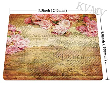 Amazon.com : Gaming Mouse Pads Artsy Work Combined with Roses and Old Love Letters in Nostalgic Design Mouse pad for Notebooks, Desktop Computers Mini ...
