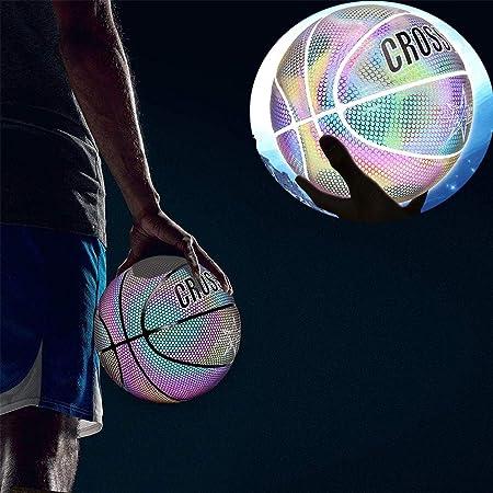 fancyU Allumez Le Basket-Ball Balle Dentra/înement De Basket-Ball Color/ée Professionnelle Professionnelle Lumineuse De Nuit R/éfl/échissante Color/ée Ensemble R/éfl/échissant Rougeoyant De Basket-Ball