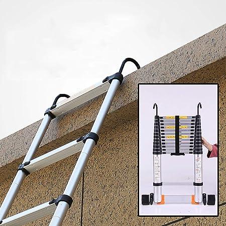 Escaleras Telescópicas Multifunción Escalera telescópica de aluminio multiusos con gancho, Escalera de extensión loft DIY de ingeniería de servicio pesado con barra estabilizadora, capacidad de 330 lb: Amazon.es: Hogar