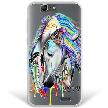 WoowCase Funda Huawei Ascend G7, [Hybrid ] Caballo Indio Colección Dibujos Animales Case Carcasa [ Huawei Ascend G7 ] Rígida Fabricada en ...